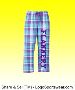 Youth Logo Drawstring Flannel Pants Design Zoom